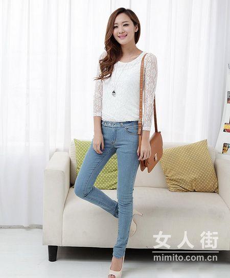 韩国小妞冬季搭配 穿出苗条身材